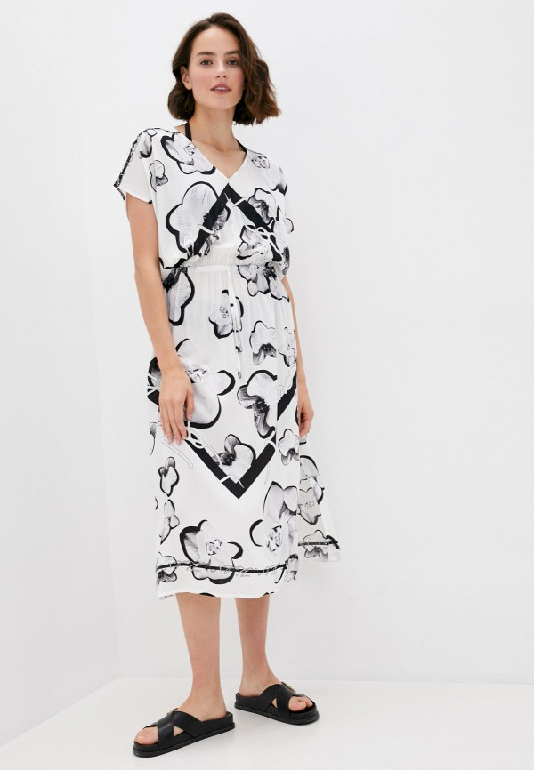 женское платье karl lagerfeld beachwear, белое