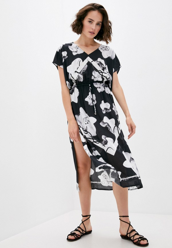 женское платье karl lagerfeld beachwear, черное