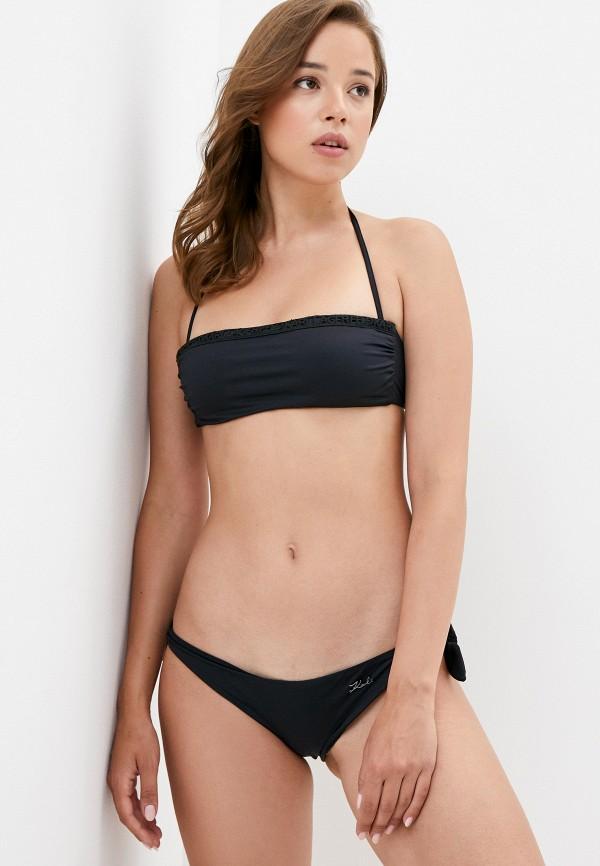 женские плавки karl lagerfeld beachwear, черные