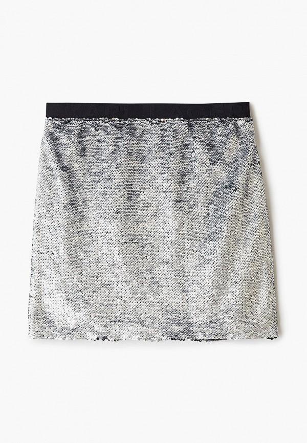 юбка karl lagerfeld kids для девочки, серебряная