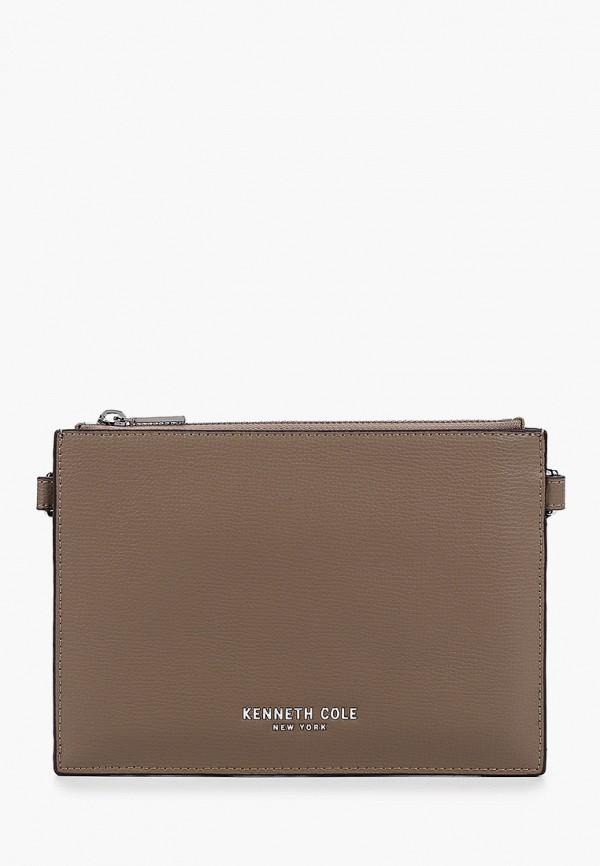 женская сумка kenneth cole, коричневая