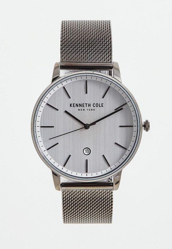 мужские часы kenneth cole, серебряные
