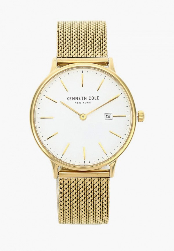 женские часы kenneth cole, золотые