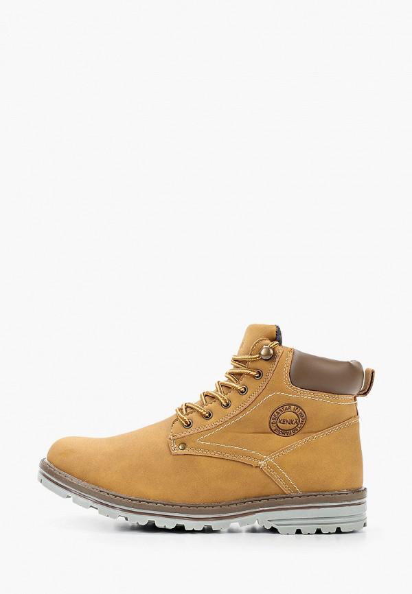 ботинки kenka для мальчика, коричневые