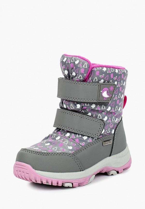 ботинки kenka для девочки, серые
