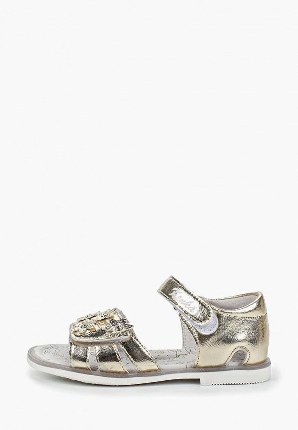 сандалии kenka для девочки, золотые