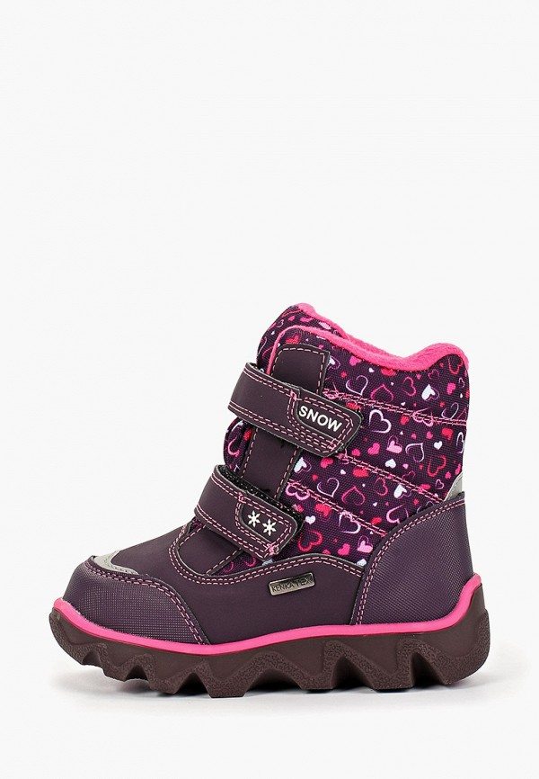 ботинки kenka для девочки, фиолетовые