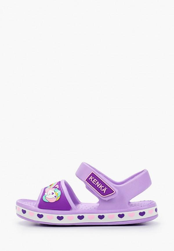 сандалии kenka для девочки, фиолетовые