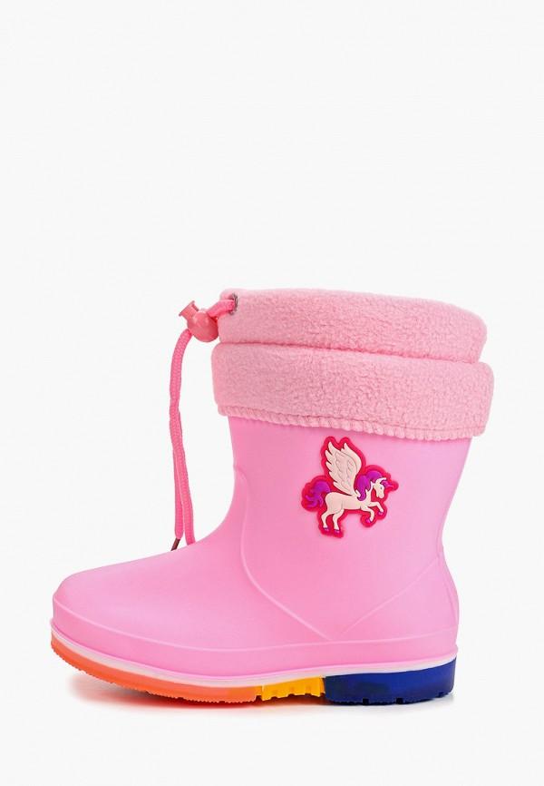 резиновые сапоги kenka для девочки, розовые