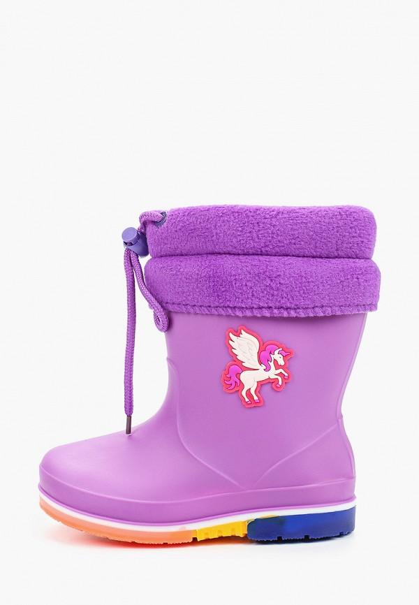 резиновые сапоги kenka для девочки, фиолетовые