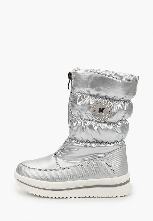 дутики kenka для девочки, серебряные