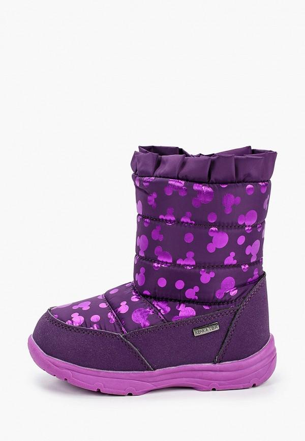 дутики kenka для девочки, фиолетовые