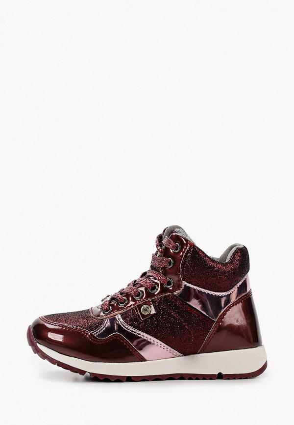ботинки kenka для девочки, бордовые