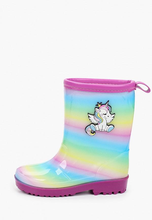резиновые сапоги kenka для девочки, разноцветные