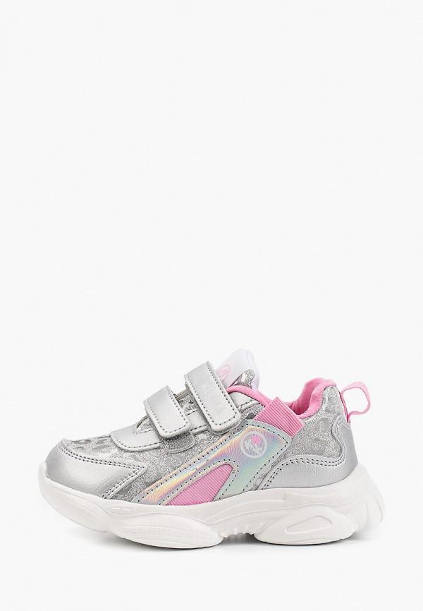 кроссовки kenka для девочки, серебряные
