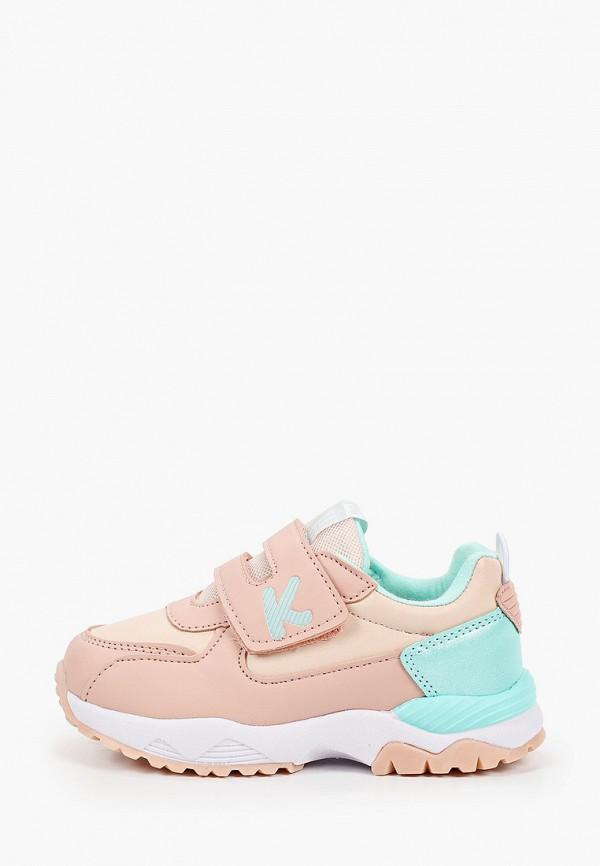 кроссовки kenka для девочки, бежевые