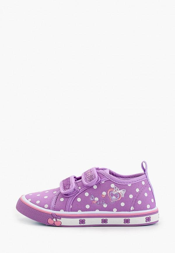 кеды kenka для девочки, фиолетовые