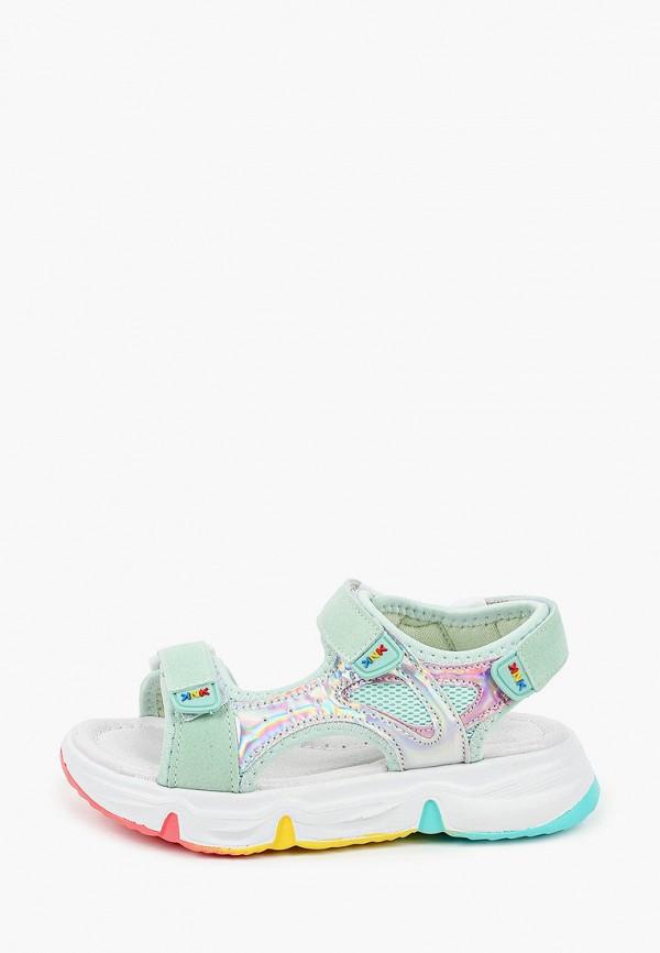 сандалии kenka для девочки, зеленые