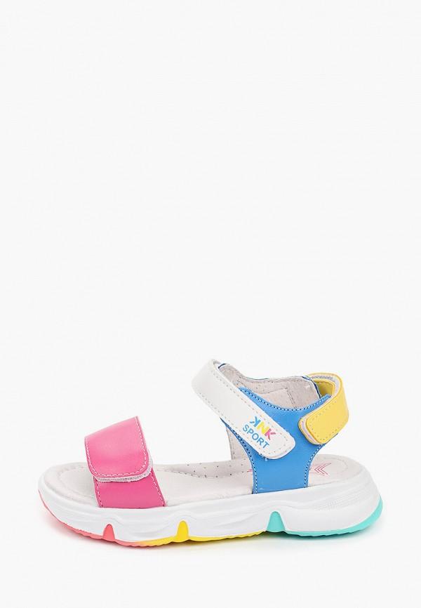 сандалии kenka для девочки, разноцветные