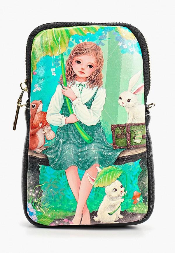 сумка kenka для девочки, зеленая