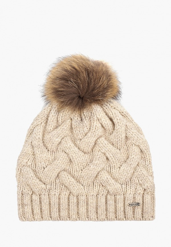 шапка kenka для девочки, бежевая