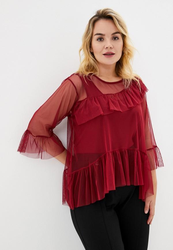 женская блузка keyra, бордовая