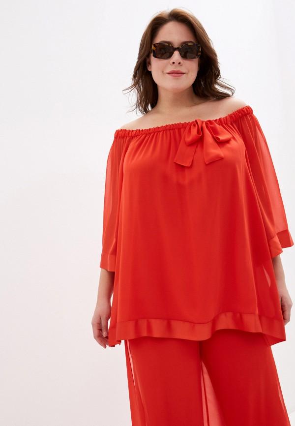женская блузка keyra, красная