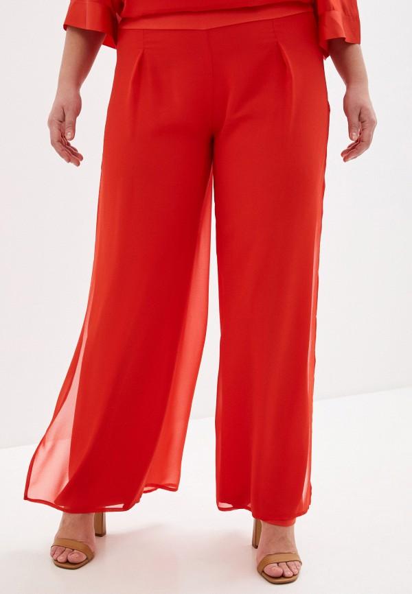 женские прямые брюки keyra, красные