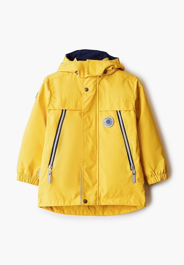 утепленные куртка kerry для мальчика, желтая