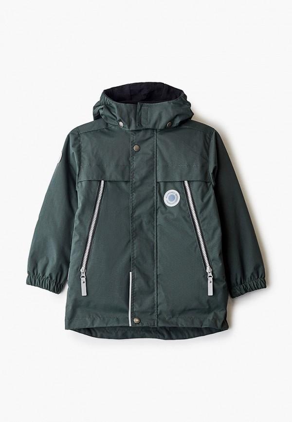 утепленные куртка kerry для мальчика, зеленая