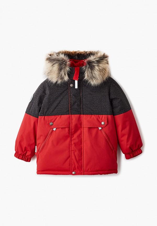 утепленные куртка kerry для мальчика, красная