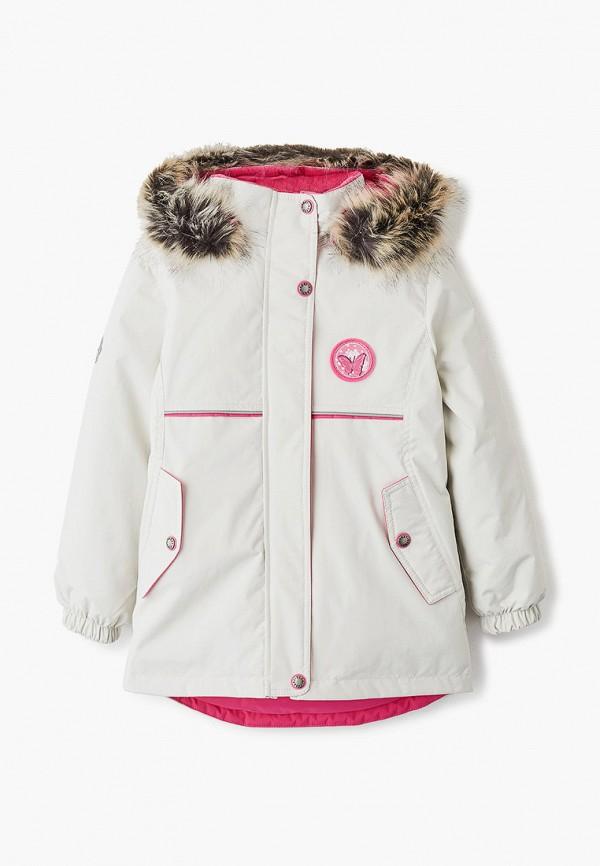 куртка kerry для девочки, белая