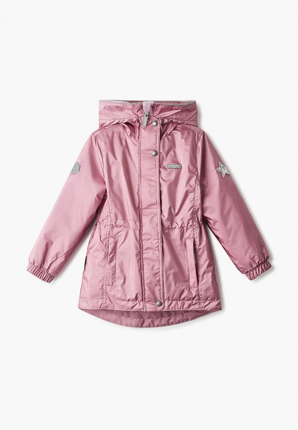 парка kerry для девочки, розовая