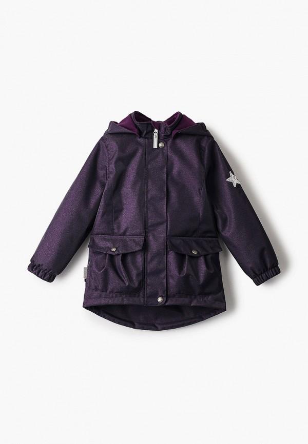 утепленные куртка kerry для девочки, фиолетовая