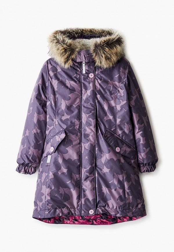 парка kerry для девочки, фиолетовая