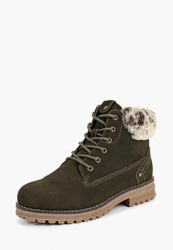 ботинки keddo для девочки, зеленые