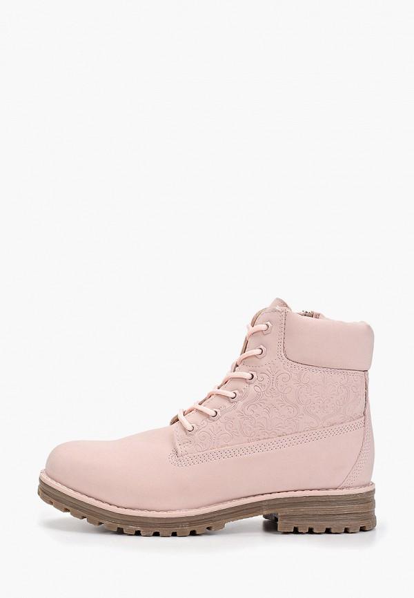 ботинки keddo для девочки, розовые