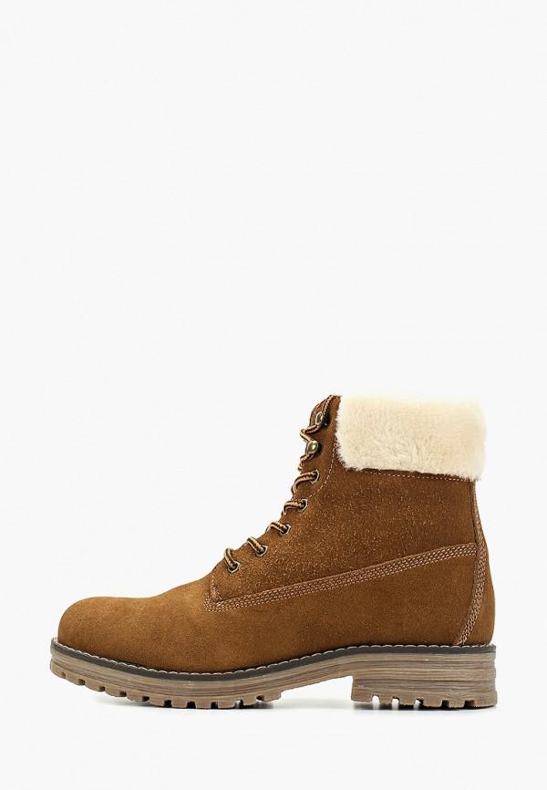 ботинки keddo для девочки, коричневые