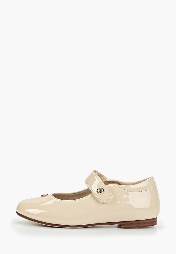туфли keddo для девочки, бежевые