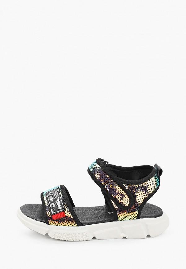 сандалии keddo для девочки, разноцветные