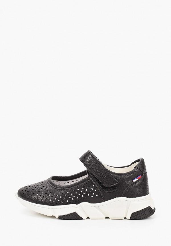 туфли keddo для девочки, черные