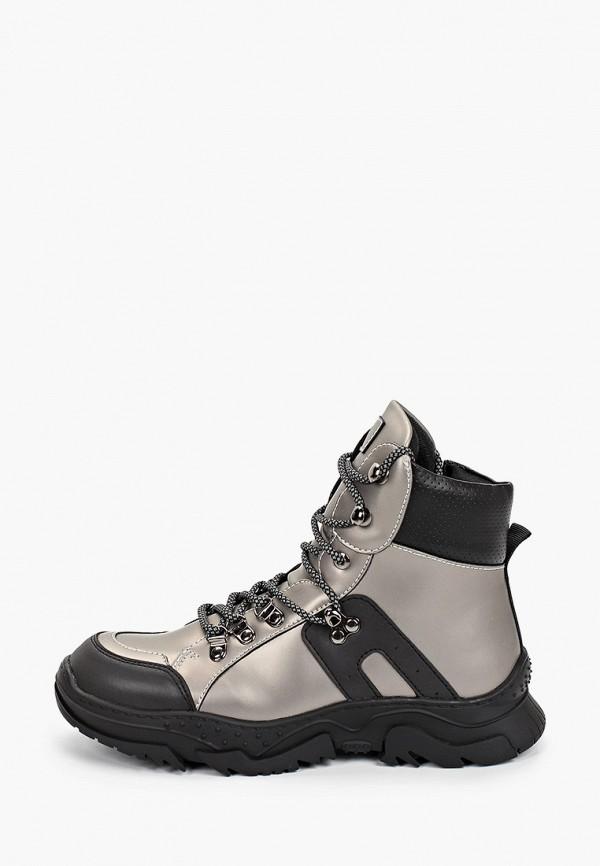 ботинки keddo для девочки, серые