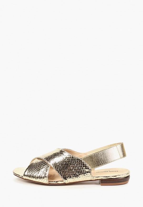 женские сандалии keddo, золотые