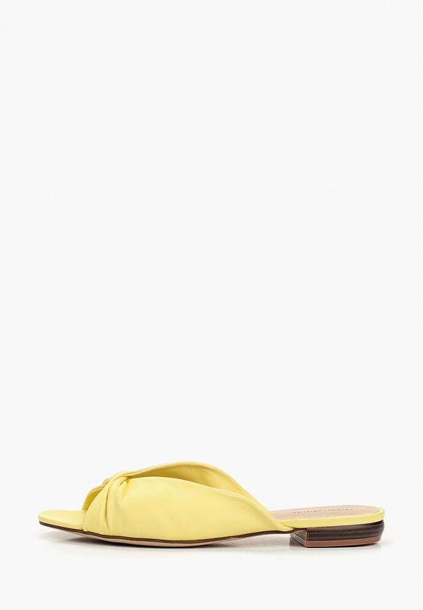 женское сабо keddo, желтое
