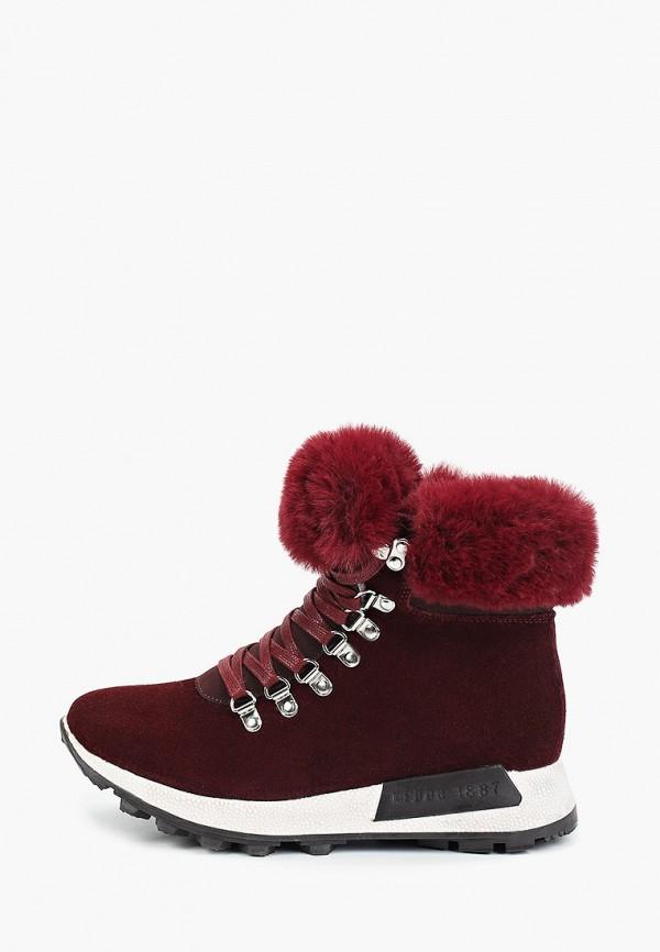 женские высокие ботинки keddo, бордовые