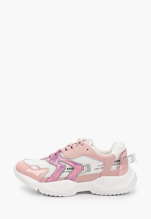 женские кроссовки keddo, розовые