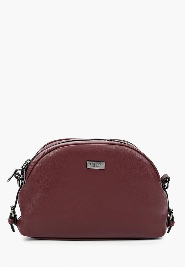 женская сумка keddo, бордовая