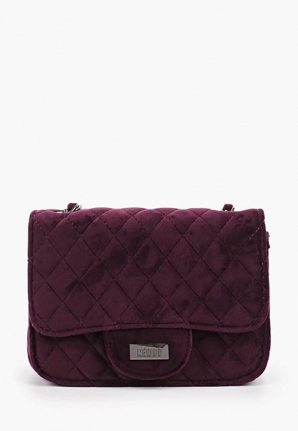 женская сумка keddo, фиолетовая