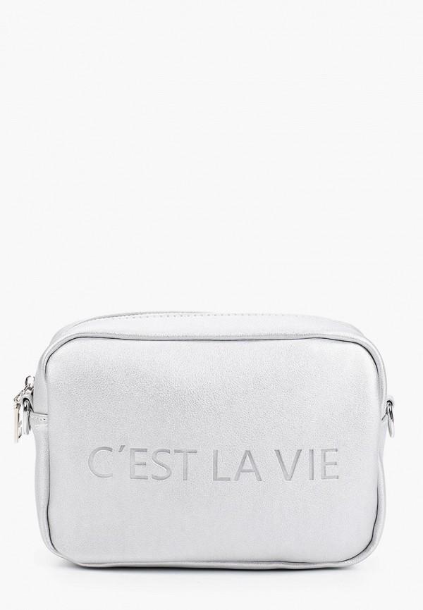 женская сумка keddo, серебряная