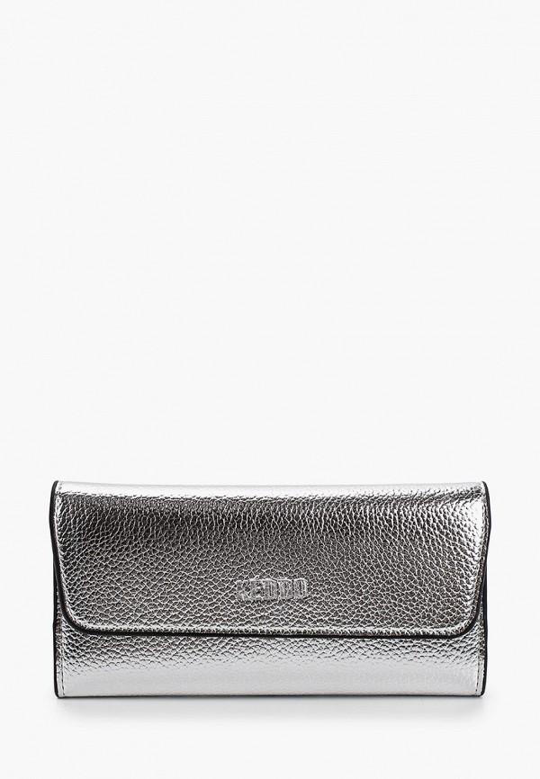 женский кошелёк keddo, серебряный